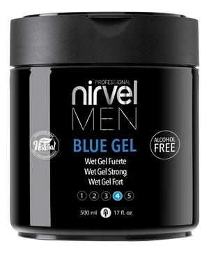 цена Nirvel Professional Гель Blue Gel для Укладки Волос Сильной Фиксации, 500 мл онлайн в 2017 году