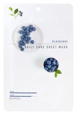 Eunyul Тканевая Маска для Лица с Экстрактом Черники Blueberry Daily Care Sheet Mask, 22г маска косметическая fabrik cosmetology тканевая маска с экстрактом черники fuits 30