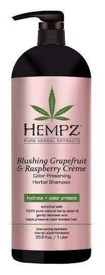 HEMPZ Шампунь Blushing Grapefruit&Raspberry Creme Shampoo Грейпфрут и Малина для Сохранения Цвета и Блеска Окрашенных Волос, 1000 мл