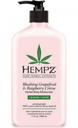 HEMPZ Молочко Blushing Grapefruit&Raspberry Moisturizer для тела увлажняющее  Грейпфрут и Малина, 500 мл уголок крепежный 135град 70x70x55мм