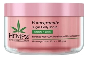 HEMPZ Скраб Body Scrub - Sugar & Pomegranate для Тела Сахар и Гранат, 176гр недорого