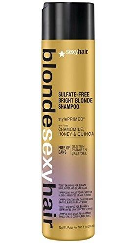 Sexy Hair Шампунь Bright Blonde Shampoo Корректирующий Сияющий Блонд без Сульфатов, 300 мл