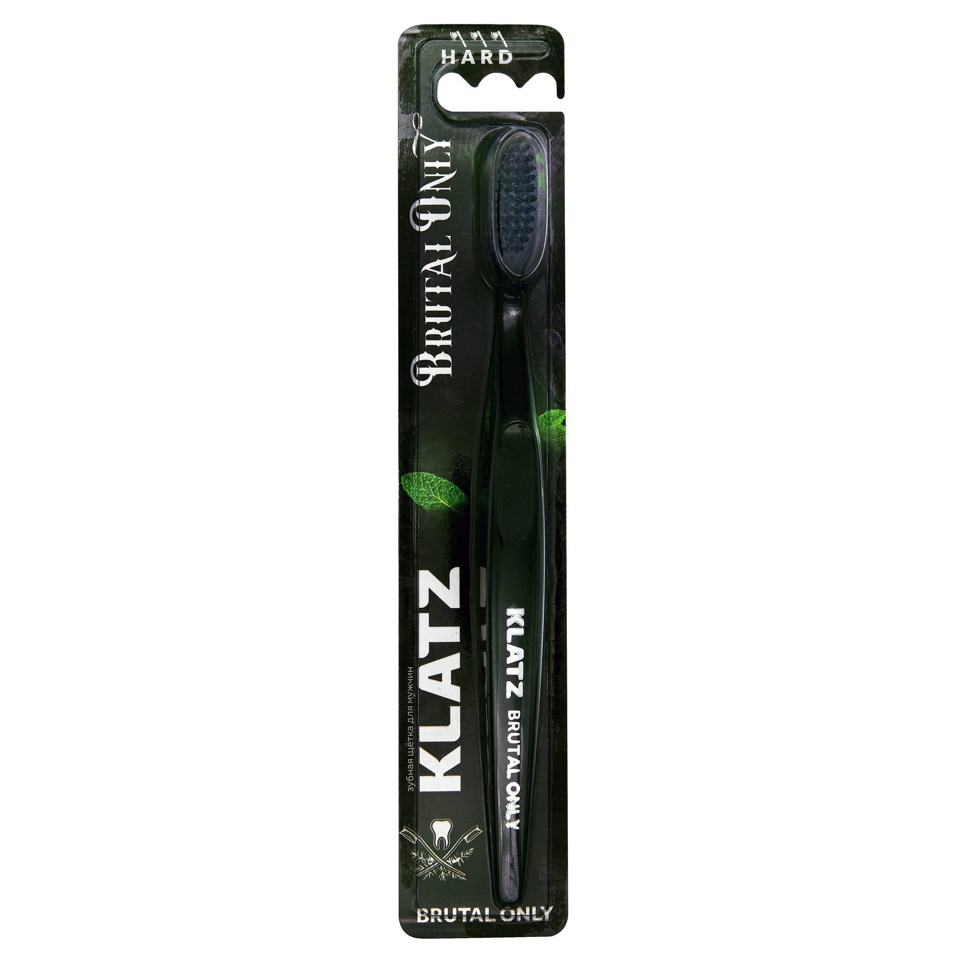 Klatz Щетка Brutal Only Зубная для Взрослых Жесткая, 1 шт global white щетка hard зубная жесткая 1 шт