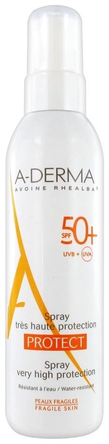 A-Derma Спрей Cолнцезащитный SPF 50+ Протект, 200 мл a derma protect солнцезащитный крем spf 50 150 мл