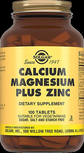 Solgar Таблетки Calcium Magnesium Plus Zinc Кальций-Магний-Цинк №100 кальций магний и цинк 250 таблеток