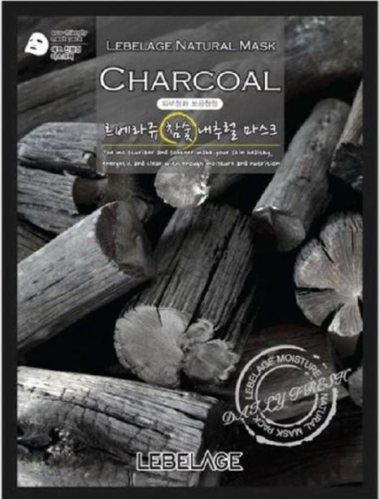 Lebelage Тканевая Маска для Лица с Экстрактом Древесного Угля Charcoal Natural Mask, 23г