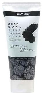 FarmStay Очищающая Пенка с Древесным Углем Charcoal Pure Cleansing Foam, 180 мл
