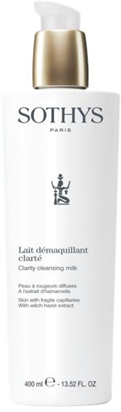 Sothys Молочко Clarity Cleansing Milkm Очищающее  для Кожи с Хрупкими Капилярами Экстрактом Гамамелиса, 400 мл