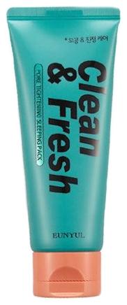 Eunyul Маска Ночная для Сужения Пор Clean & Fresh Pore Tightening Sleeping Pack, 120 мл очищающая маска для сужения пор eunyul pore tightening radiance pack 100мл