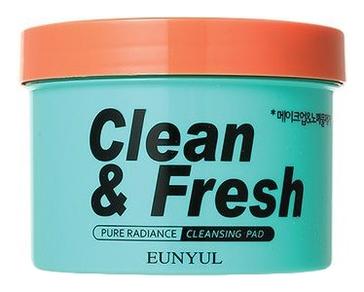 Eunyul Очищающие Диски для Снятия Макияжа Clean & Fresh Pure Radiance Cleansing Pad, 170 мл