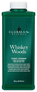 Clubman Тальк Whiskey Woods Powder Универсальный с Запахом Виски, 255г