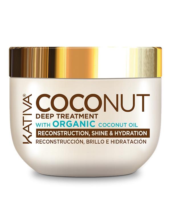 Kativa Маска Coconut Восстанавливающая для Поврежденных Волос, 250 мл шампунь коллагеновый kativa