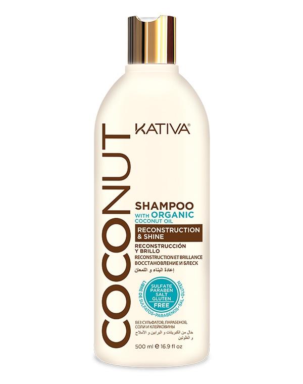 Kativa Шампунь Coconut Восстанавливающий для Поврежденных Волос, 500 мл