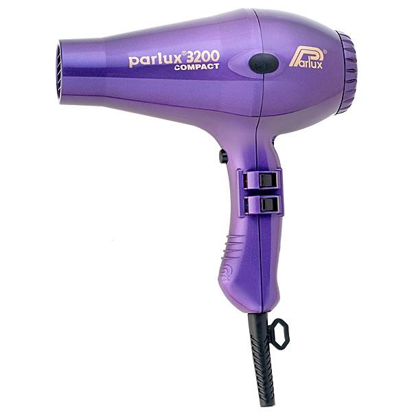 PARLUX Фен Compact 3200 Фиолетовый 1900W фен для волос compact 0901 3200 plus red 1900w 2 насадки красный