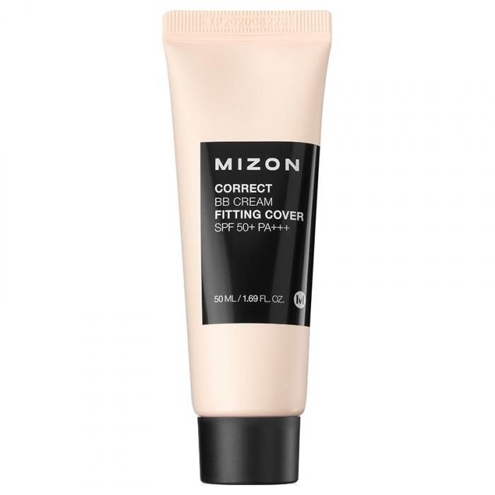 MIZON ББ Крем Correct BB Cream Fitting Cover SPF 50+ PA+++ Корректирующий с Антивозрастным и Увлажняющим Эффектом, 50 мл mizon bb крем watermax moisture spf 25 50 мл