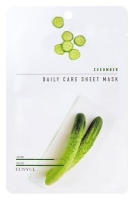 цена на Eunyul Тканевая Маска для Лица с Экстрактом Огурца Cucumber Daily Care Sheet Mask, 22г