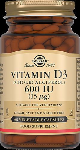 Solgar Витамин D3 600 МЕ Капсул №60 легкодоступное железо джентл айрон 90 капсул solgar минералы