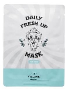 Фото - VILLAGE 11 FACTORY Маска Daily Fresh Up Mask Tea Tree Успокаивающая Тканевая с Экстрактом Чайного Дерева, 20г hask tea tree oil маска укрепляющая с маслом чайного дерева и экстрактом розмарина