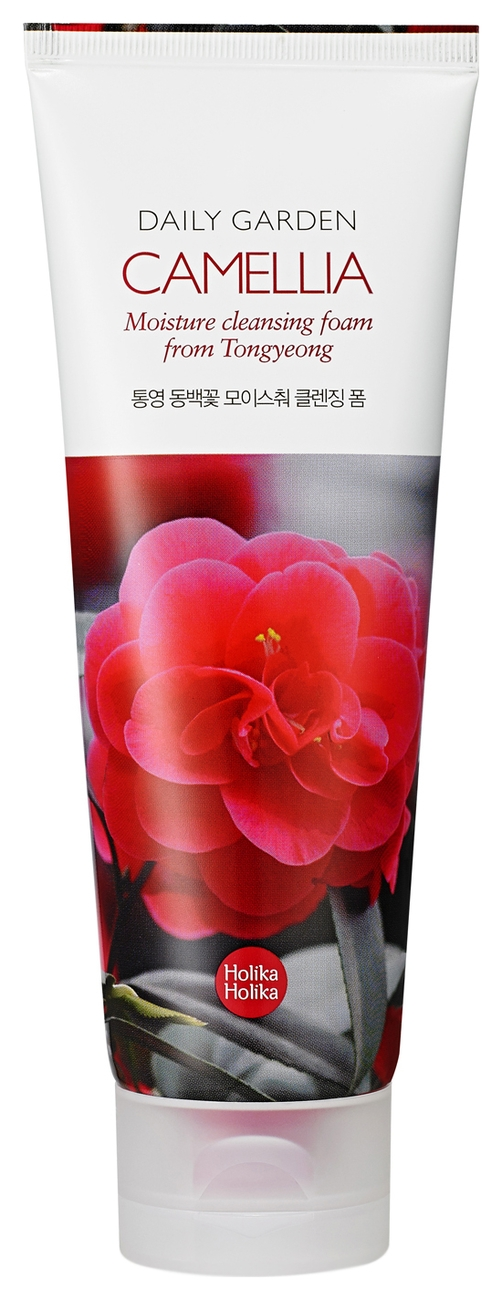 Holika Holika Пенка Daily Garden Tongyeong Camelia Moisture Cleansing Foam для Лица с Экстрактом Камелии, 120 мл holika holika пенка для лица с рисом daily garden icheon rice bright cleansing foam 120 мл