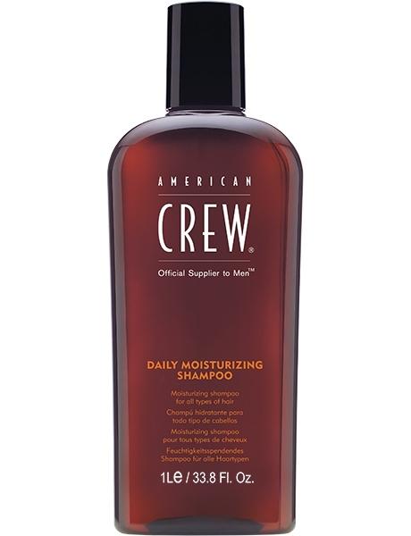 American Crew Шампунь для Ухода за Нормальными и Сухими волосами Daily Moisturizing Shampoo, 1000 мл