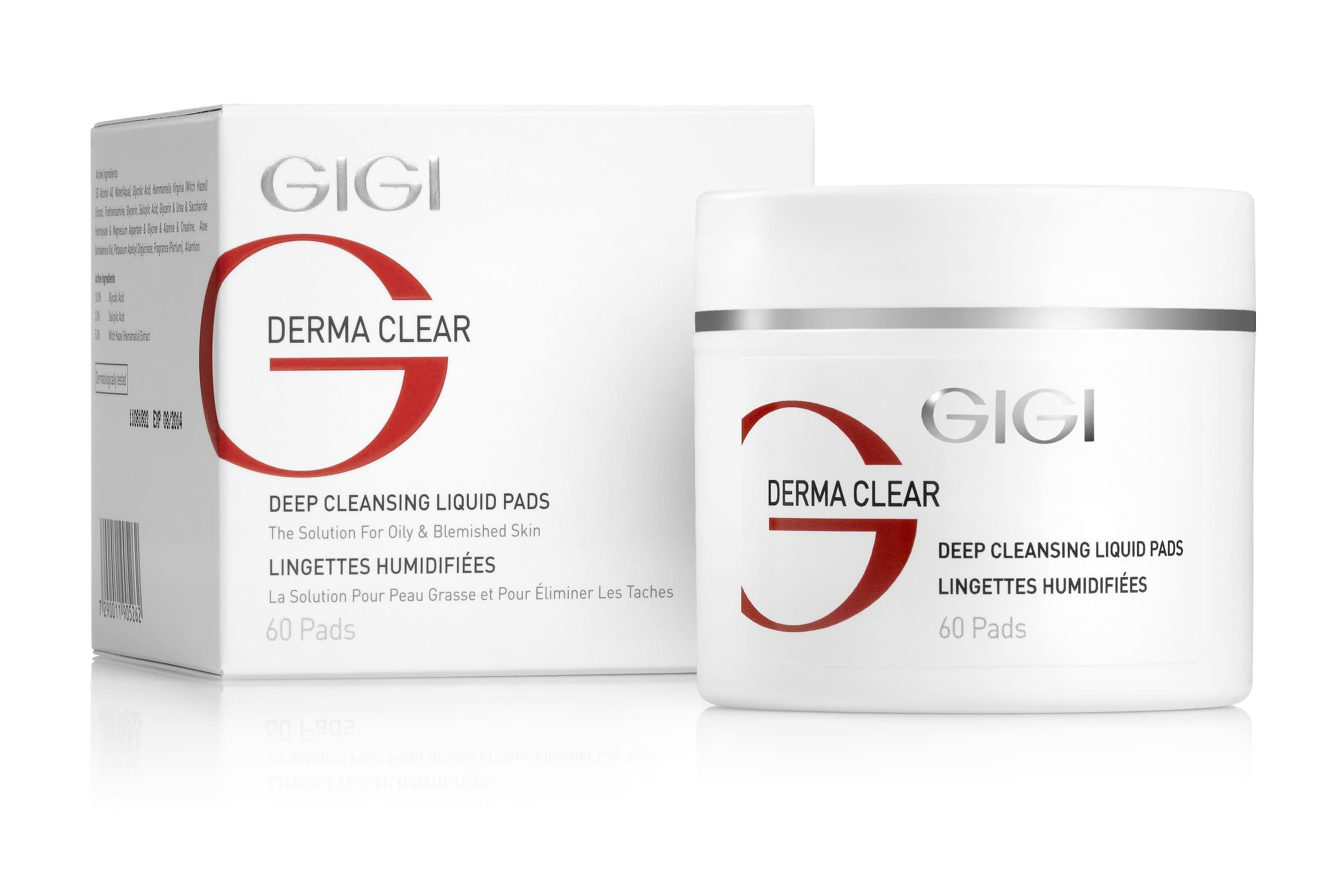GIGI Диски DC Deep Cleansing Liquied Pad Очищающие Ватные, 100 мл