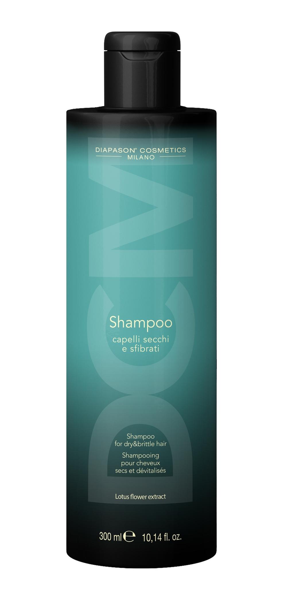 Lisap Шампунь для Сухих Волос с Экстрактом Цветов Лотоса DCM Shampoo for Dry and Brittle Hair, 300 мл