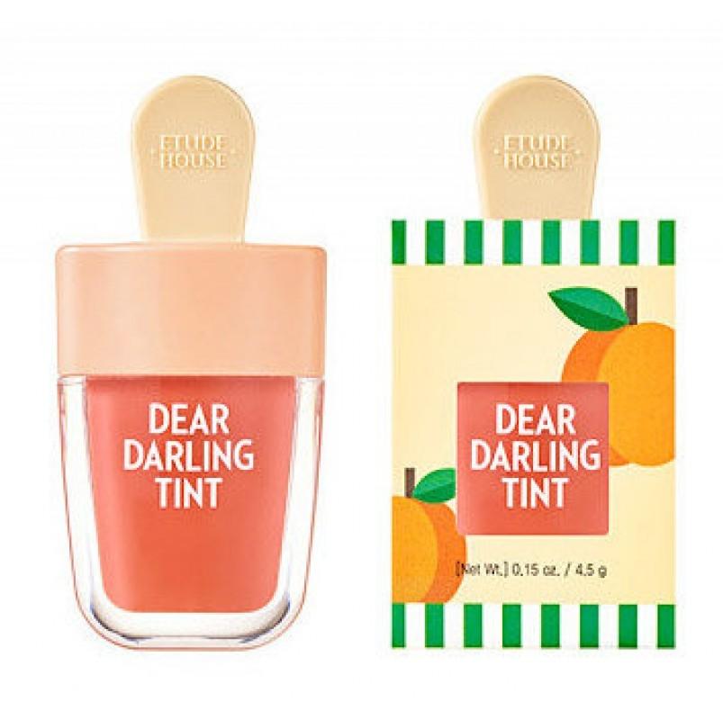 Etude House Тинт Dear Darling Water Gel Tint Apricot Red Увлажняющий Гелевый для Губ Красный Абрикос, 4,5г тинт для губ гелевый saemmul real gel tint 10г 01 red soda
