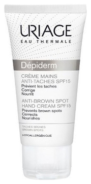 Uriage Крем Depiderm Anti-Brown Spot Hand Cream для Рук с SPF 15 Депидерм, 50 мл