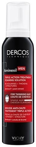 VICHY Средство против Выпадения ВолосDercos Aminexil Men Foaming Solution для Мужчин в Формате Пены Аминексил Мен, 150 мл