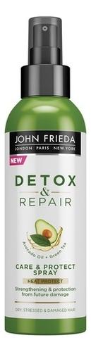 John Frieda Несмываемый Спрей  для Укрепления Волос с Термозащитой Detox & Repair, 200 мл недорого