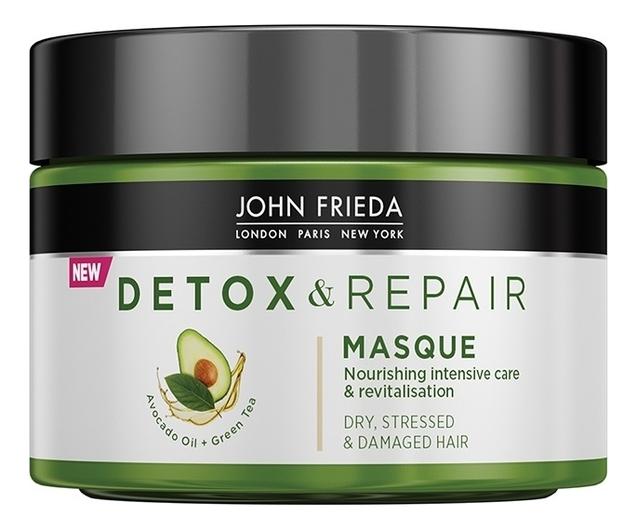 John Frieda Питательная Маска для Интенсивного Восстановления Волос Detox & Repair, 250 мл
