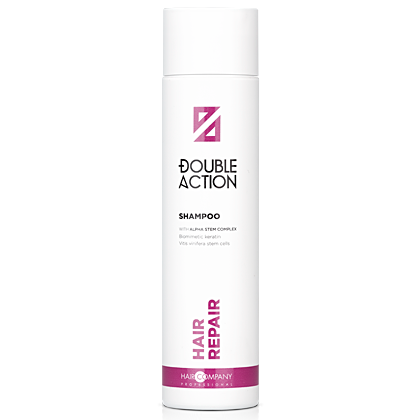 HAIR COMPANY Шампунь Double Action Hair Repair Shampoo восстанавливающий, 250 мл