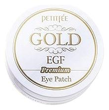 Petitfee Гидрогелевые Патчи для Области вокруг Глаз с Золотом и EGF Gold & Premium Hydrogel Eye Patch, 60 шт