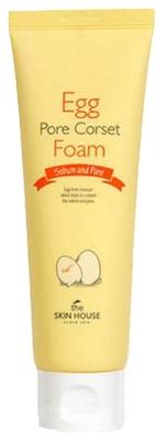 The Skin House Пенка для Глубокого Очищения и Сужения Пор с Яичным Экстрактом Egg Pore Corset Foam, 120 мл цена и фото