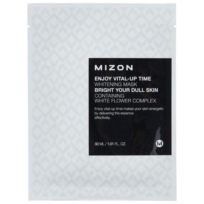 MIZON Маска Enjoy Vital-Up Time Whitening Mask для Лица Тканевая, 30 мл dr gloderm маска для лица разглаживающая wrinkletox time to mask 25 мл
