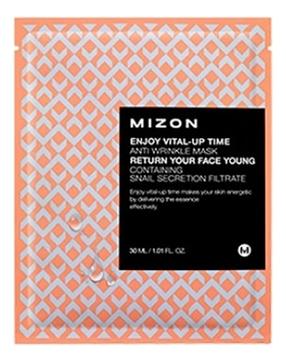MIZON Маска Enjoy Vital Up Time Anti Wrinkle Mask Листовая для Лица Антивозрастная, 30 мл