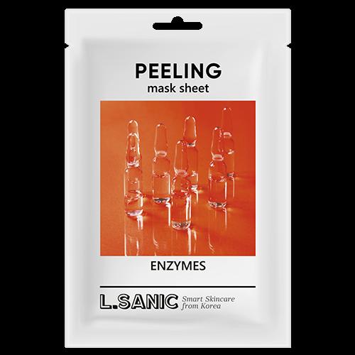 L.Sanic Маска Enzymes Peeling Mask Sheet Обновляющая Тканевая с Энзимами, 25 мл