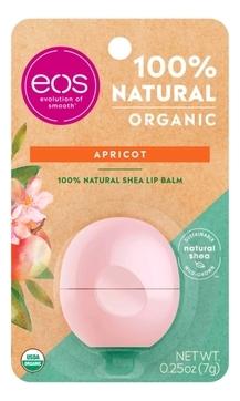 EOS Бальзам Eos Organic Apricot Lip Balm для Губ на Картонной Подложке, 7г eos набор бальзам для губ eos vanilla mint ваниль мята 2 штуки eos lip balm