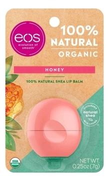 Фото - EOS Бальзам Eos Organic Honey Lip Balm для Губ на Картонной Подложке, 7г бальзам для губ lip balm tube strawberry 10мл