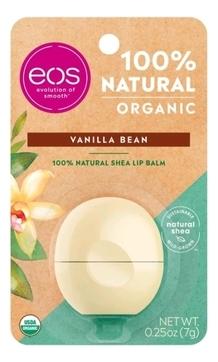 EOS Бальзам Eos Organic Vanilla Bean Lip Balm для Губ на Картонной Подложке, 7г eos набор бальзам для губ eos vanilla mint ваниль мята 2 штуки eos lip balm