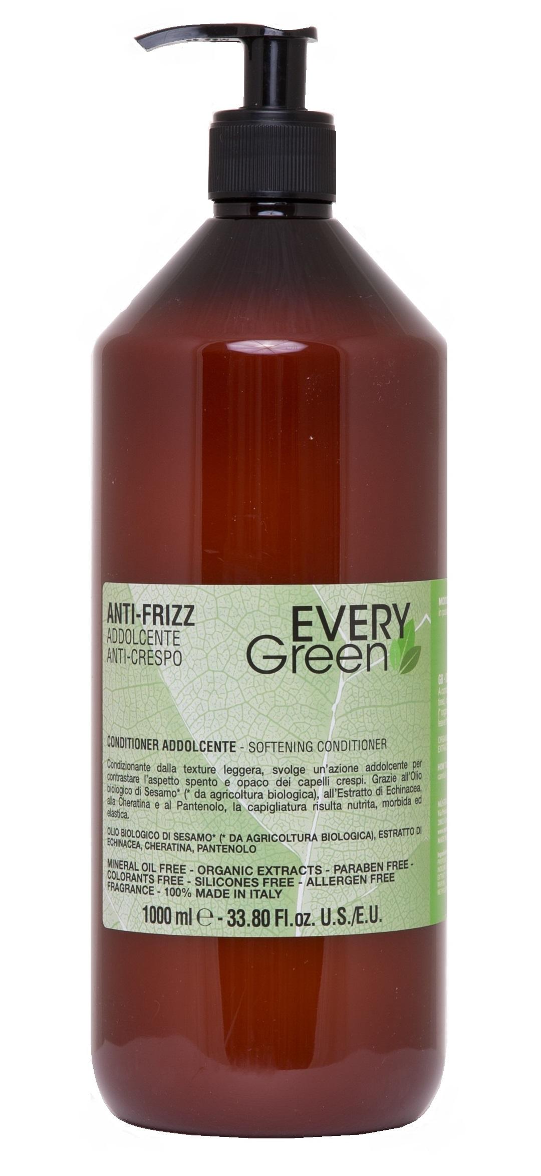 Dikson Кондиционер Every Green Anti-Frizz Condizionante Idratante для Вьющихся Волос, 1000 мл