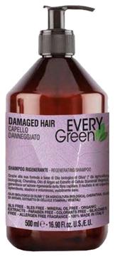 цена Dikson Шампунь Every Green Damager Hair Regenerating для Поврежденных Волос, 500  мл в интернет-магазинах