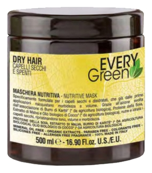 Dikson Маска Every Green Dry Hair Mashera Nutriente для Сухих Волос, 500 мл dikson маска every green colored hair mashera protettivo для окрашеных волос 250 мл