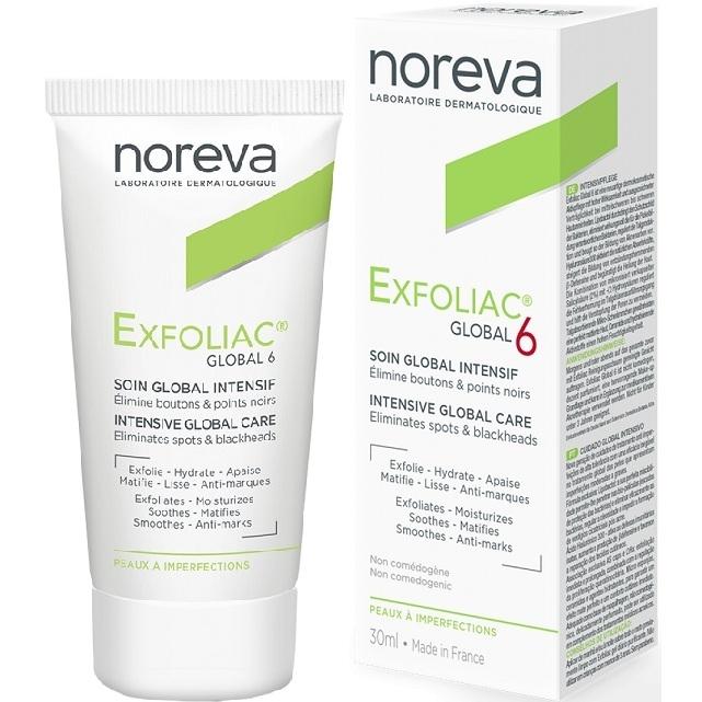 Noreva Крем Exfoliac Global для Лица Глобал 6, 30 мл noreva exfoliac gel moussant