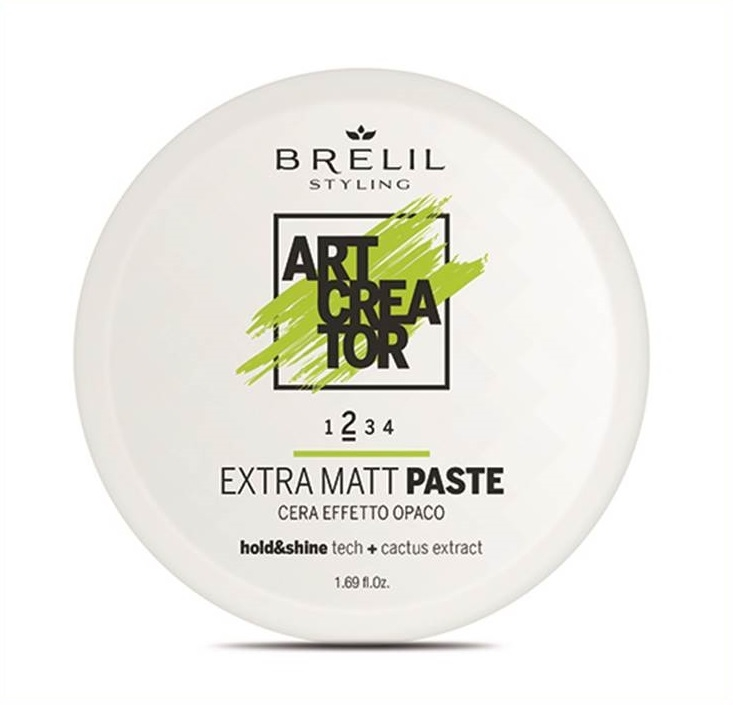 Brelil Professional Паста Extra Matt Paste с Экстраматовым Эффектом, 50 мл