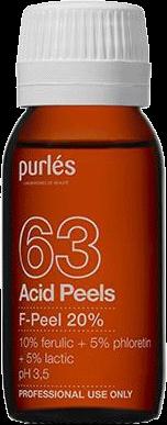 Purles Деликатный Пилинг для Периорбитальной Зоны F-Peel 20% pH 3,5, 60 мл purles пилинг тса t peel 15% 60 мл