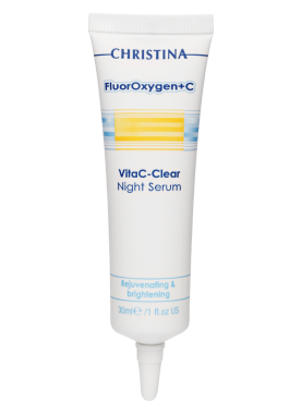 цена на Christina Сыворотка FluorOxygen+C VitaC-Clear Night Serum Ночная Осветляющая, 30 мл