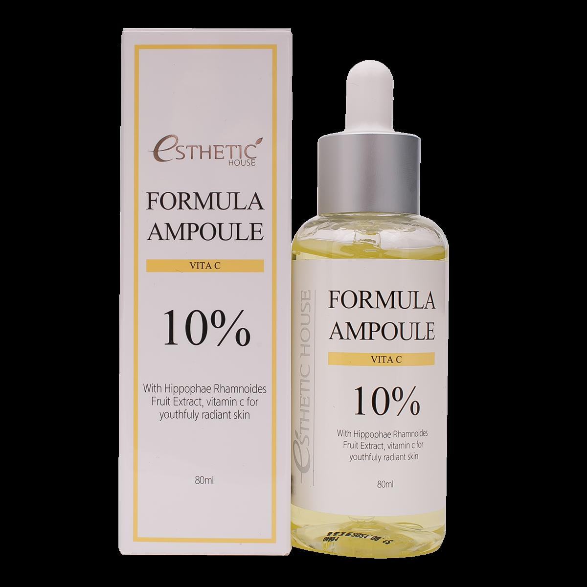 Esthetic House Сыворотка Formula Ampoule Vita C для Лица с Витамином С, 80 мл bona vita карамель леденцовая лимон и мята с витамином с на травах 60 г