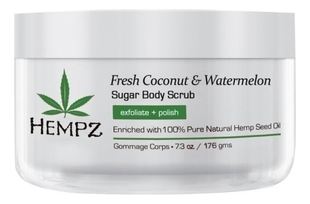 HEMPZ Скраб Fresh Coconut&Watermelon Sugar Body Scrub для Тела Кокос и Арбуз, 176гр