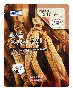 Фото - 3W Clinic Маска Fresh Ginseng Mask Sheet Тканевая для Лица с Красным Женьшенем, 23 мл маска д лица cosima корейский женьшень и гиалуроновая кислота 25г